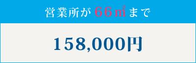 営業所が66㎡まで158,000円