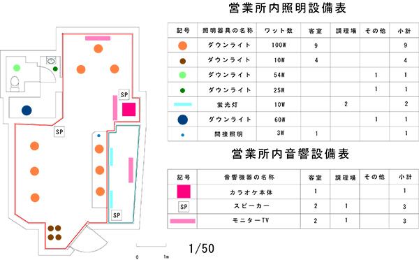 照明・音響設備図